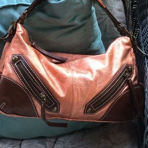 Gorgeous Isabella Fiord copper leather bag
